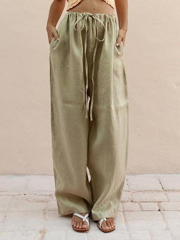 Solid Casual Women Pants