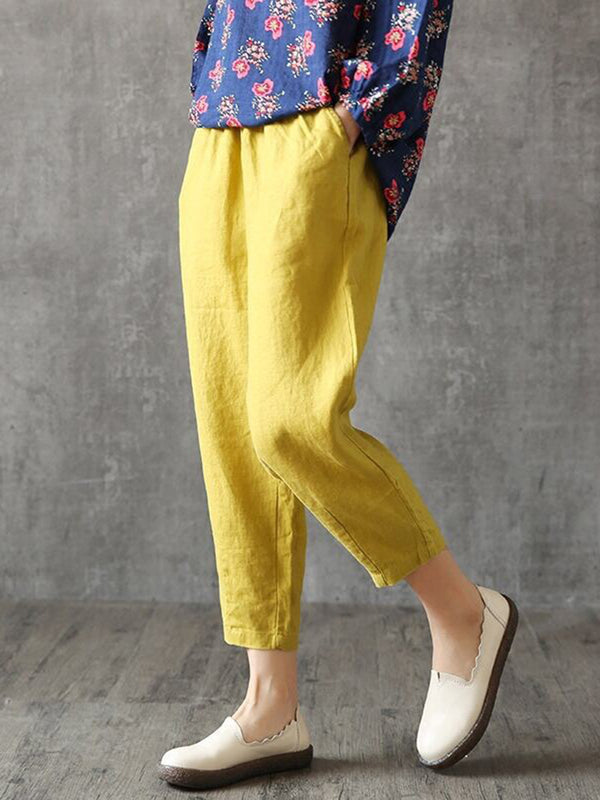 Large Size Harlan Casual Nine Points Carrot Pants