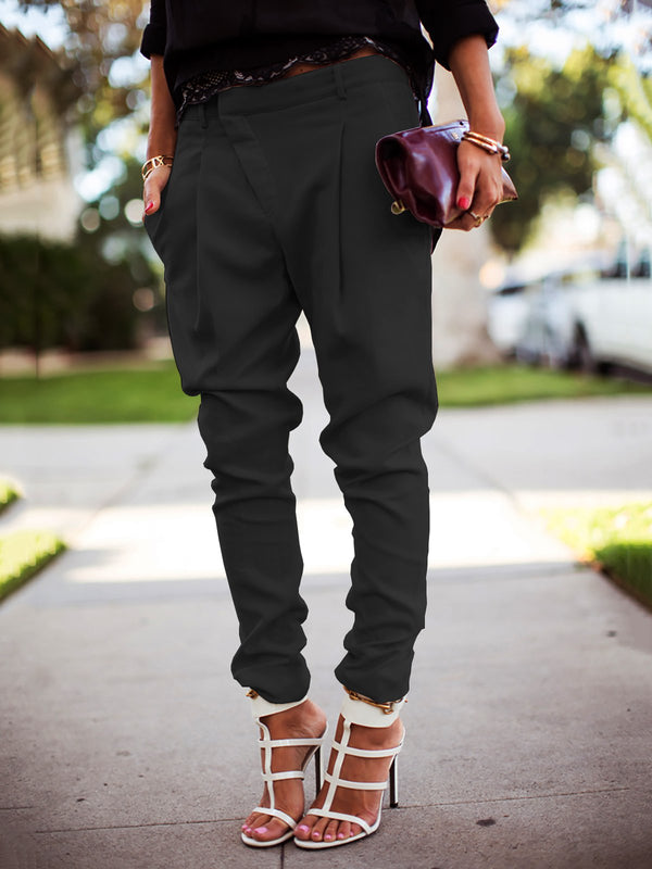 Women Casual Solid Harem Pants