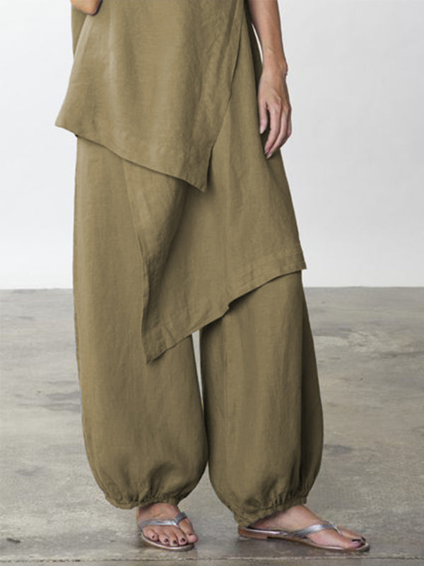 Daytime Cotton-Blend Casual Loose Pants