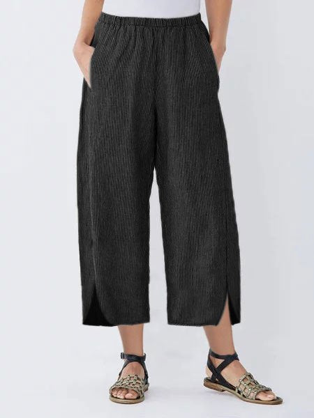 Women Casual Shift Striped Pants