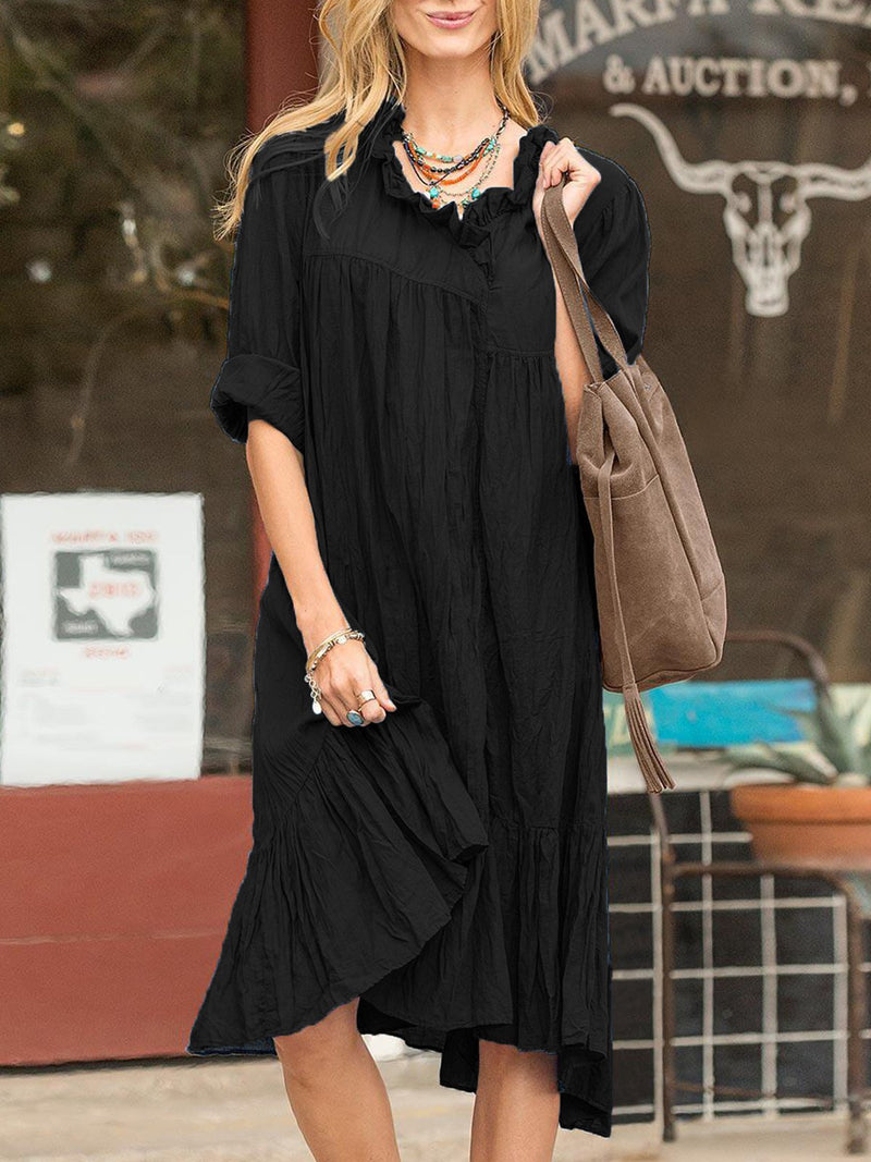 Sweet Cotton-Blend Dresses