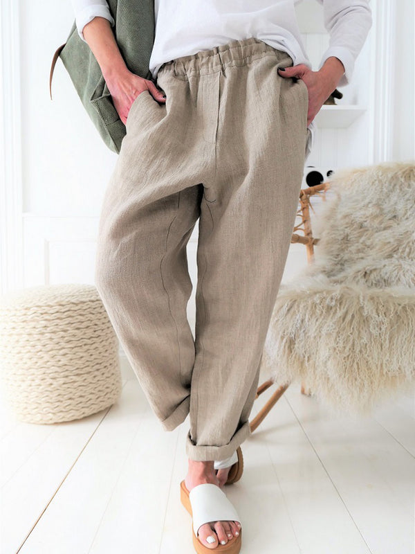 Casual Cotton-Blend Pants & Capris