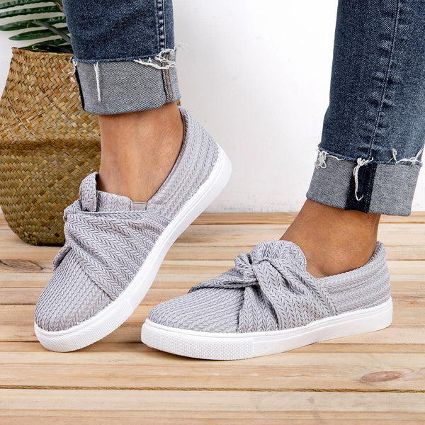 Casual Bowknot Flat Heel Fashion Sneakers