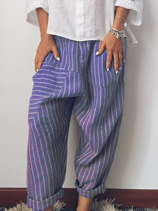 Women Striped Casual Pants