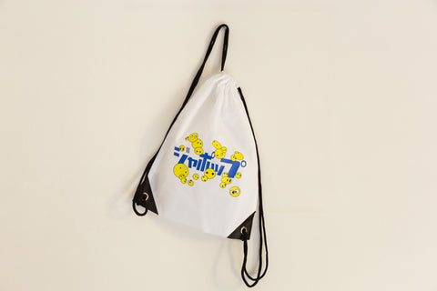 KATAKANA back pack  ジャポップ WH 2 / Stampa Giappop = Giappone + POP in alfabeto Katakana