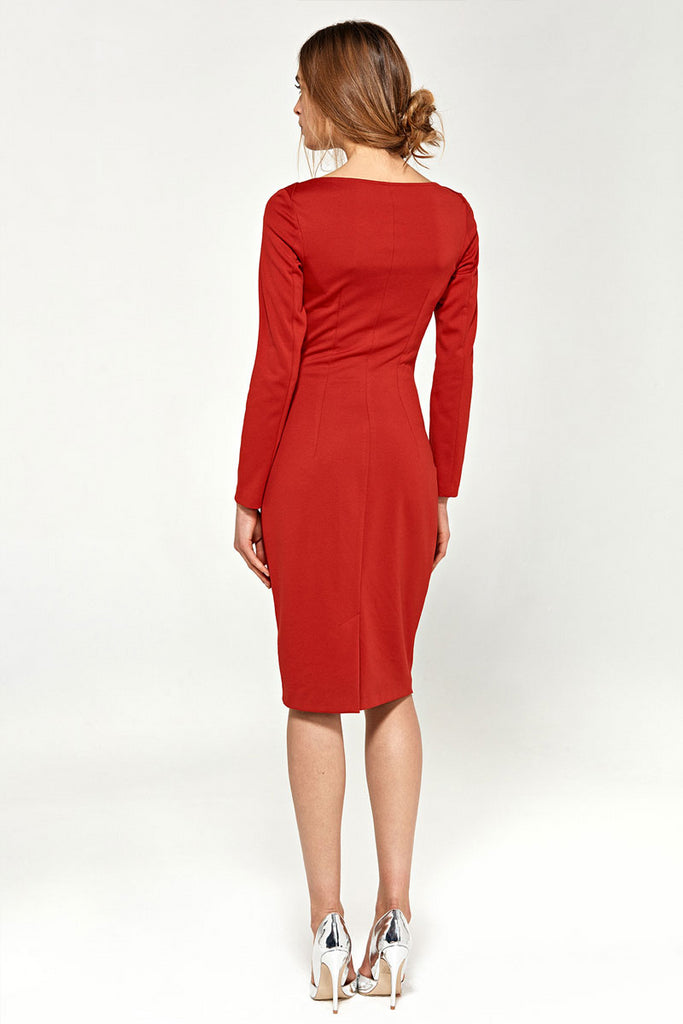 Robe droite casual rouge (dos)
