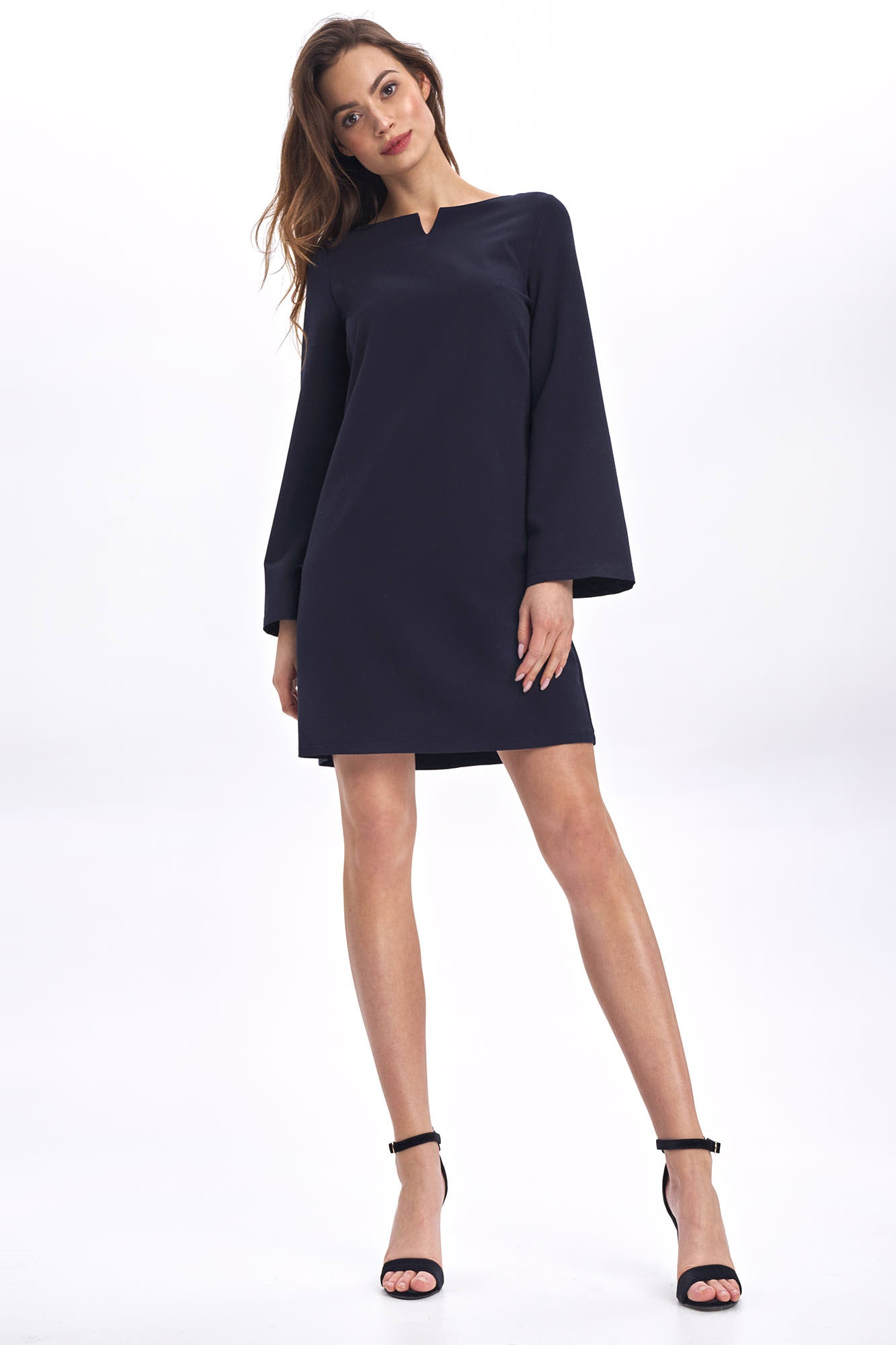 Robe Trapeze Courte Manches Longues Evasees Mademoiselle Grenade