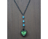 GREEN HEART Y-NECKLACE