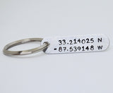 LATITUDE AND LONGITUDINAL KEYCHAIN