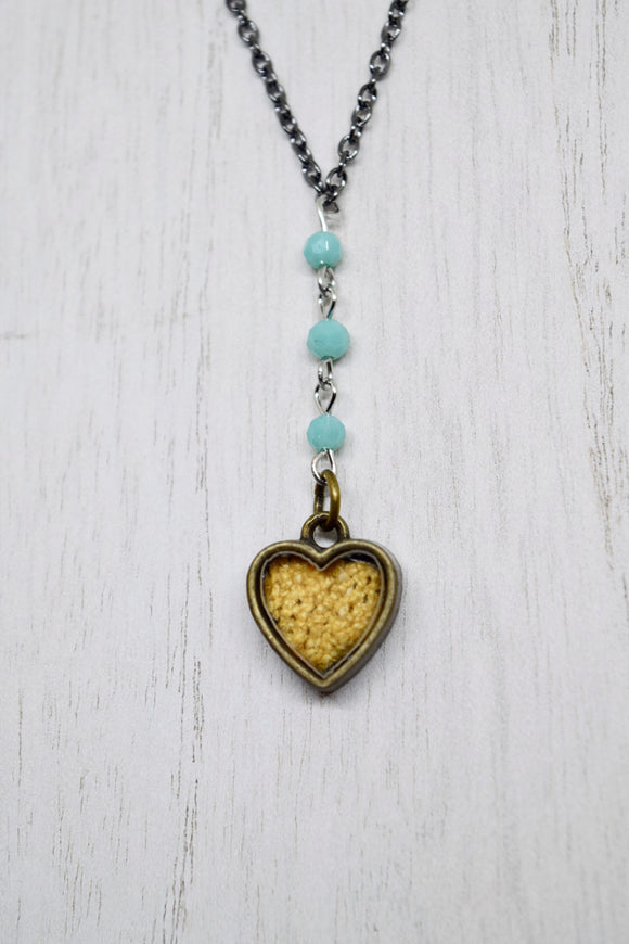 YELLOW HEART Y-NECKLACE