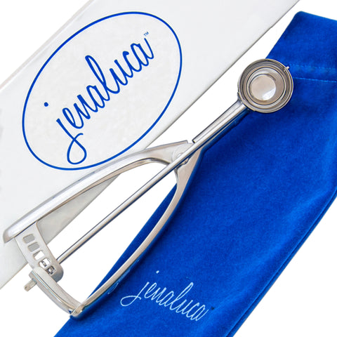 Image of Jenaluca Melon Baller Scoop - Truffle Scoop - Premium 18/8 Stainless Steel - Elegant Gift Packaging (Small)