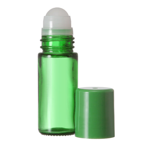 Green Glass Roll On Bottles - 30 ML