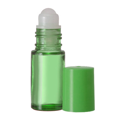 Green Glass Roll On Bottles - 5 ML