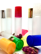 Load image into Gallery viewer, Frosted Glass Roll On Bottles - 10 ML - Stainless Steel Rollerball Insert