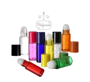 Red Glass Roll On Bottles - 30 ML