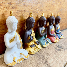 Load image into Gallery viewer, White & Gold Mini Buddha Statue