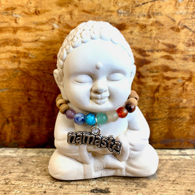 Baby Buddha with Chakra Necklace