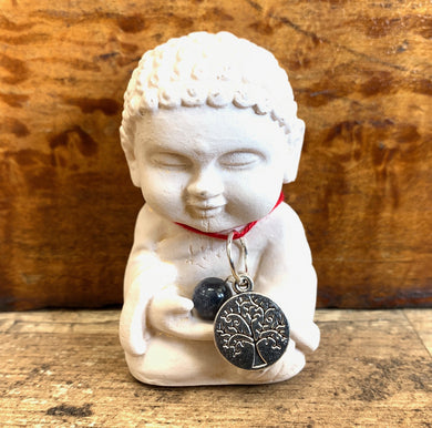 Baby Buddha with Tree of Life Necklace