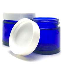 Load image into Gallery viewer, 1 Oz. Cobalt Glass Straight Side Jar