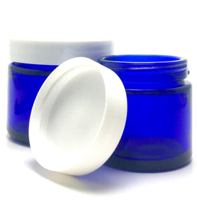 1 Oz. Cobalt Glass Straight Side Jar