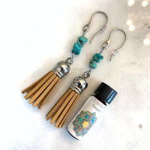 Turquoise Diffuser Tassels