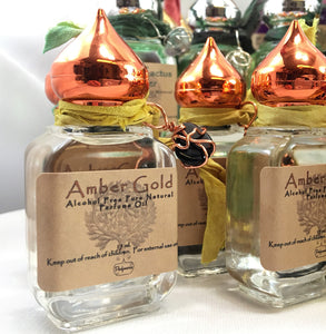 Amber Gold Imported Perfume Oil   100% Alcohol Free