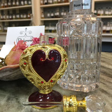 Load image into Gallery viewer, Red and Gold Heart Attar Bottle