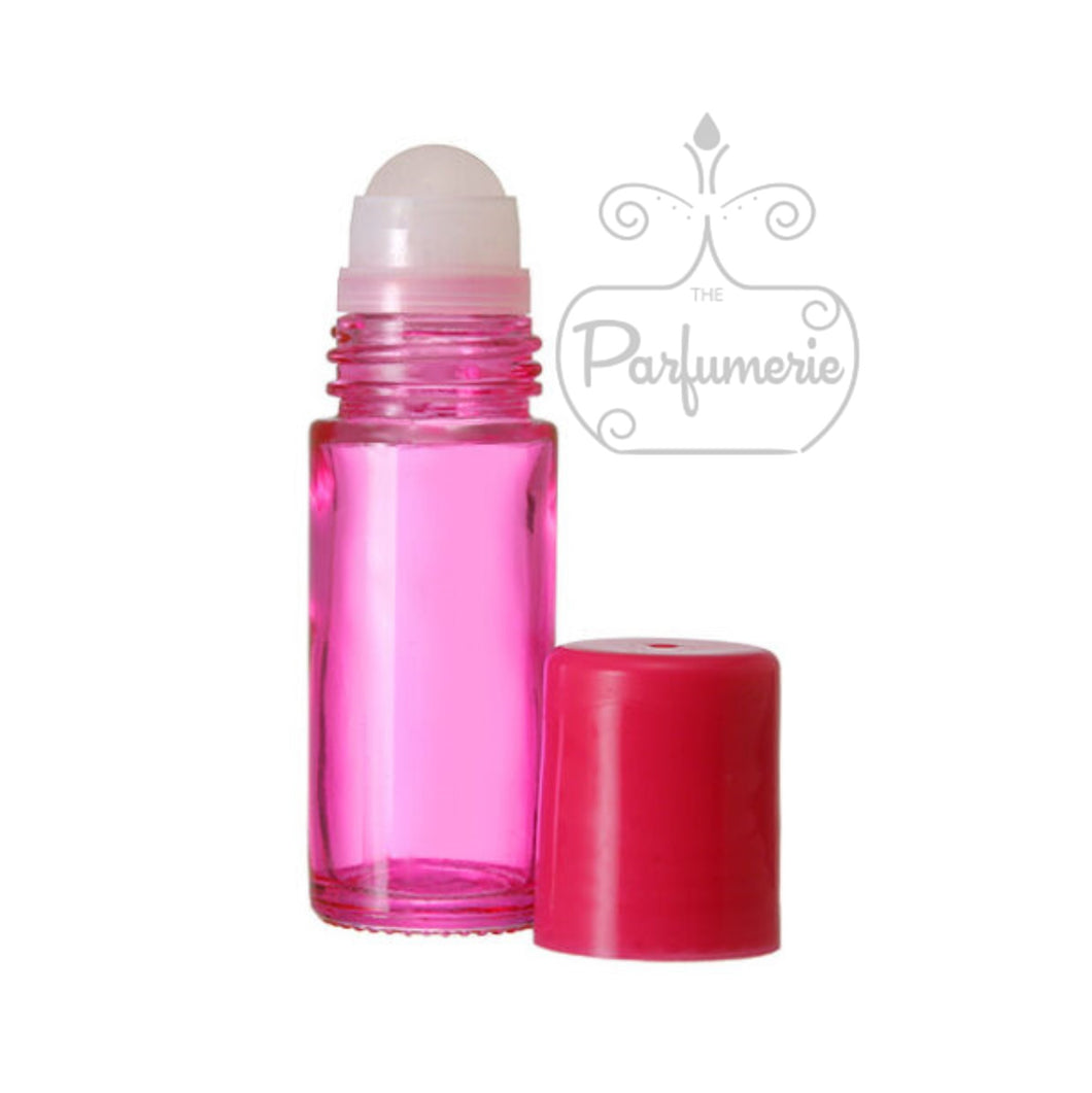 Pink Glass Roll On Bottles - 30 ML
