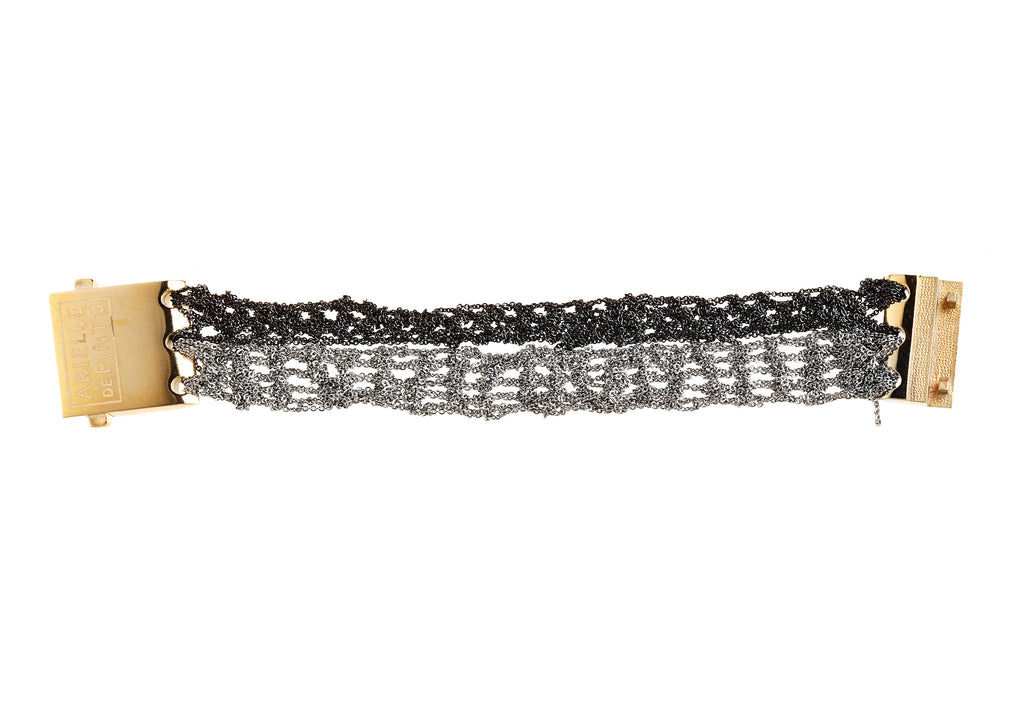 Split Band Bracelet in Ash + Charcoal