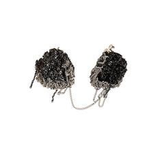 - Crescent Moon Earrings - Charcoal + Ash -