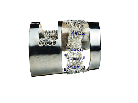 Crystal Tracked Cut-Out Cuff