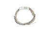 Crystal Trim Simple Bracelet with Push Clasp