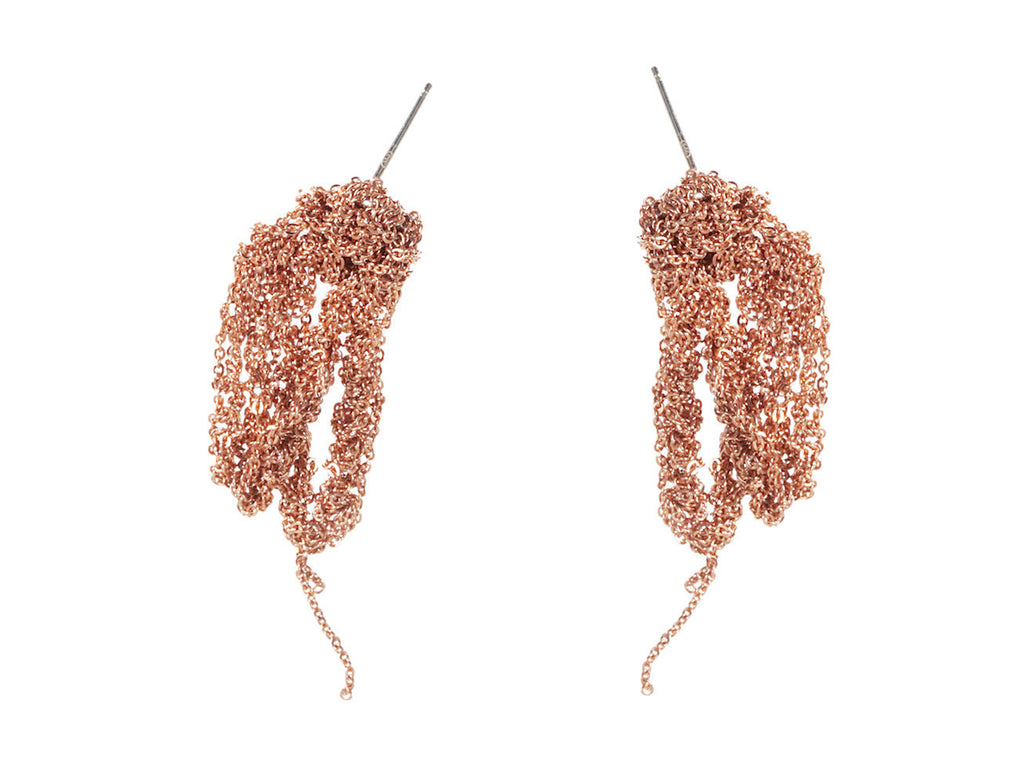 Drip Earrings in Rose Gold