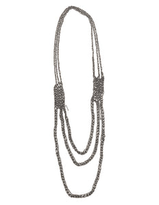 6-Strand Necklace in Midnight
