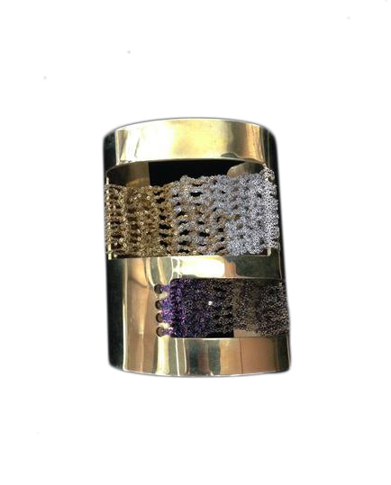 Cut-Out Cuff in Gold + Spectrum + Burnt Gold + Silver w/ Brass hardware