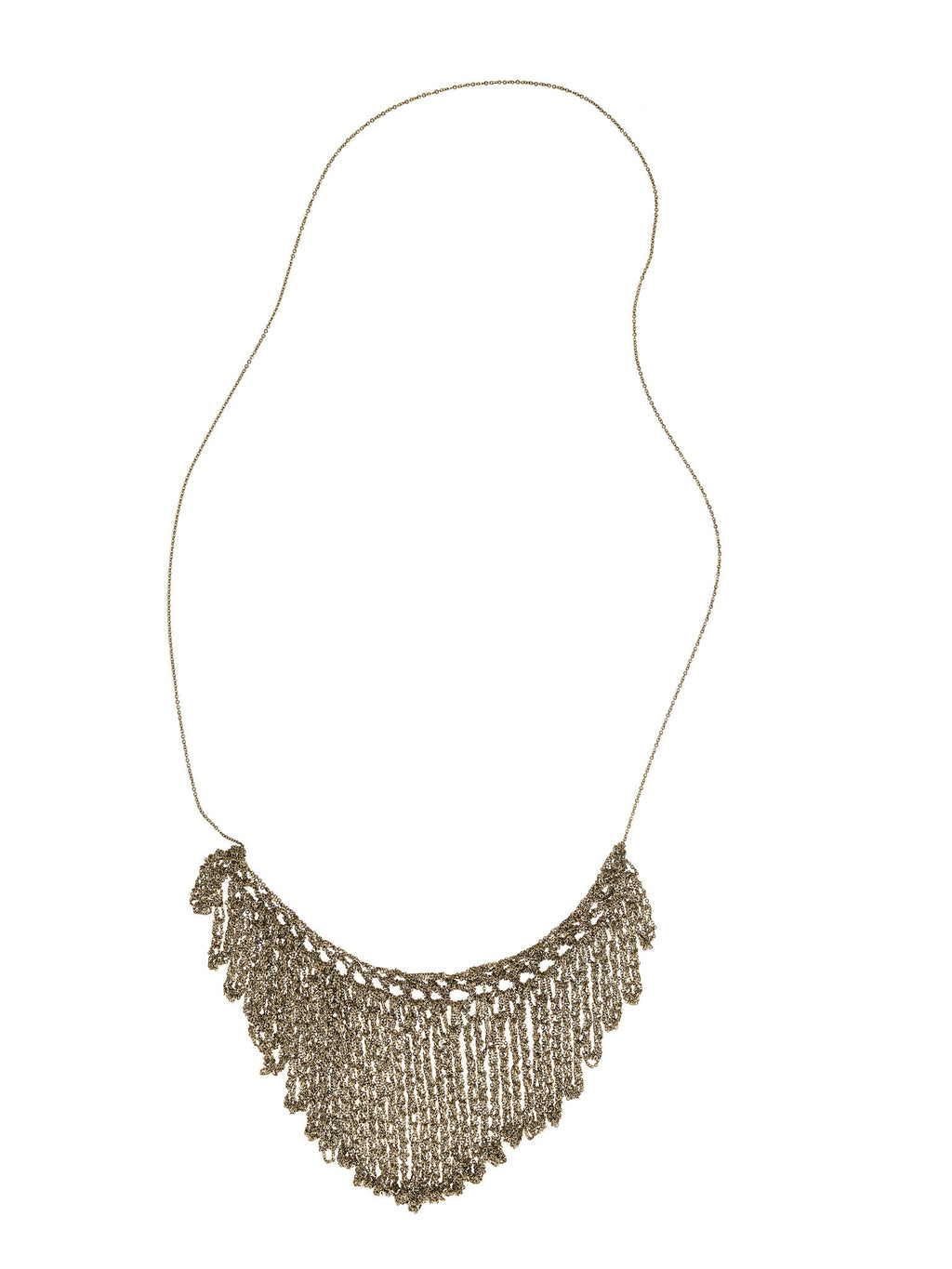 String Fringe Necklace in Haze