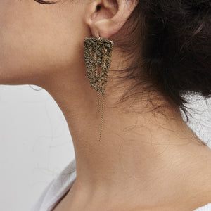 Prestige Earrings in Faded Silver