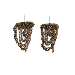 Prestige Earrings in Burnt Gold