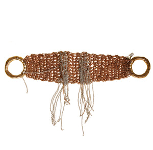 Waterfall Bracelet in Rose Gold + Silver w/ Brass Clasp