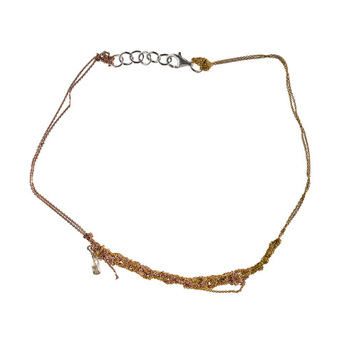 - 2-Tone Clasped Skinny - Rose gold + Gold -