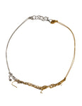 2-Tone Clasped Skinny in Gold + Silver