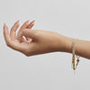 - 2-Tone Bare Chain Bracelet - Rose Gold + Haze