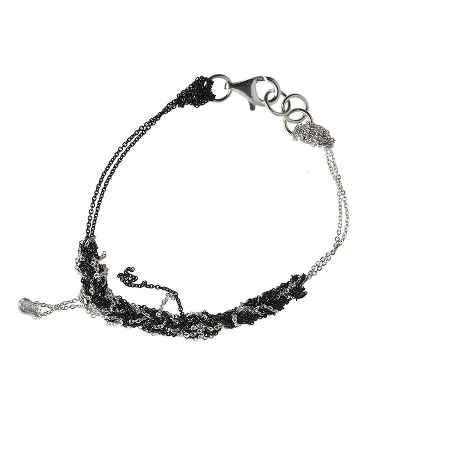 2-Tone Bare Chain Bracelet in Ash + Charcoal