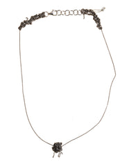 - Single Sweet Bead Necklace - Faded silver -