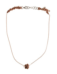 - Single Sweet Bead Necklace - Rose gold -