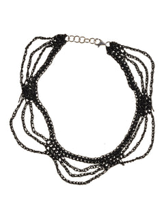 Lady Macbeth Choker in Charcoal