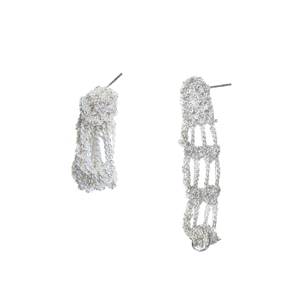 Cuff Earrings in Silver