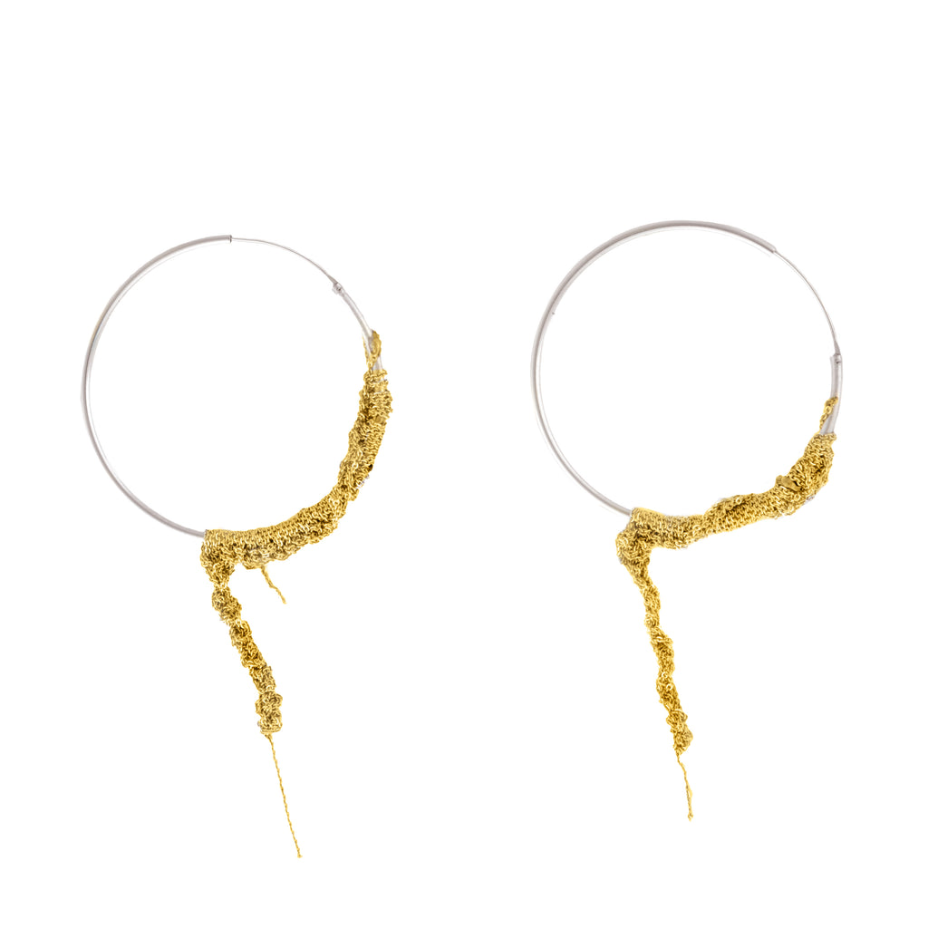Waning Hoops in Gold