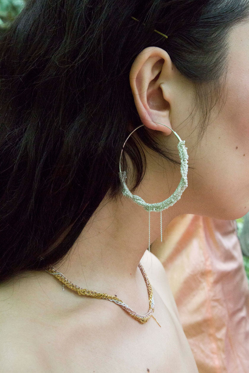 Circlet Hoops in Midnight